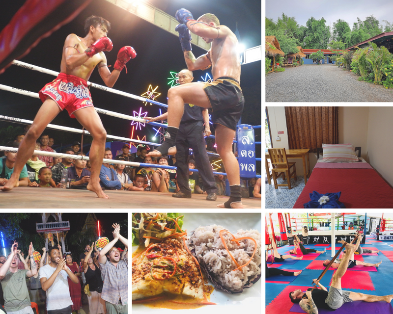 cross fit training in muay thai gym thailand