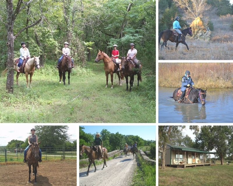 Weekend horse riding in the USA: 3 day ranch vacation and horse riding in kansas