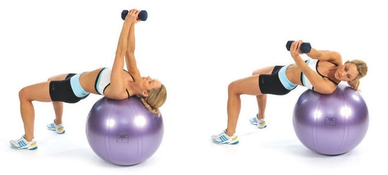swiss-ball-dumbbell-rotations