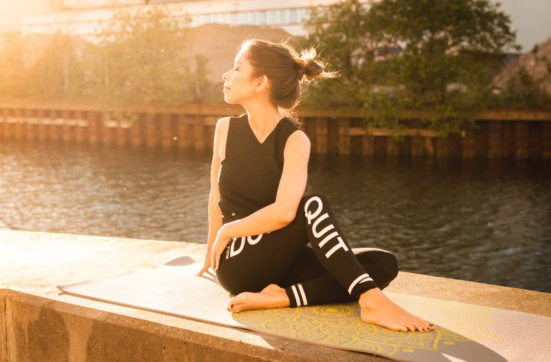 woman meditating in sunshine