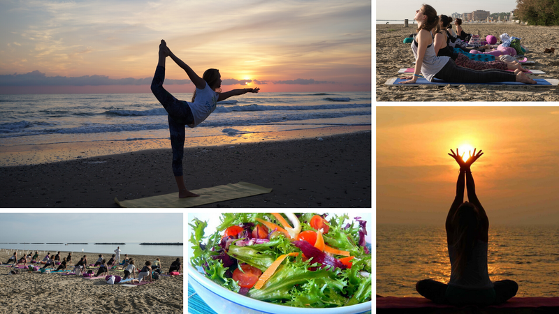 beach yoga retreat in the province of rimini