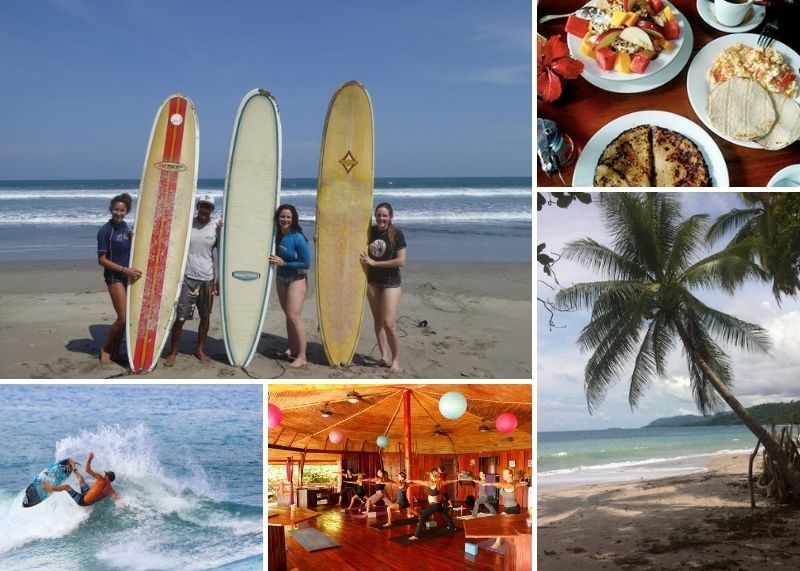 yoga and surf in montezuma