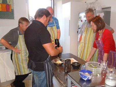 cooking holiday at convivio rome - Guido cooking class