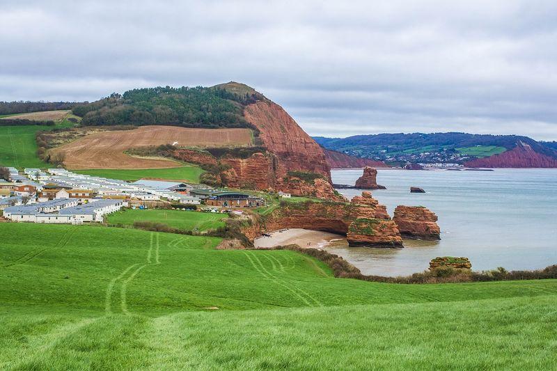devon uk coast view