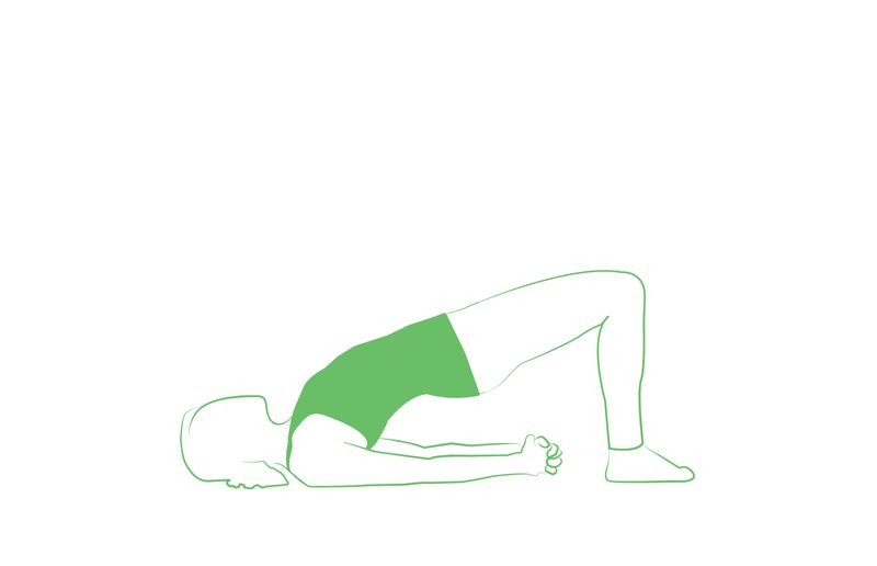 bridge back arch stretch move inspired by yoga