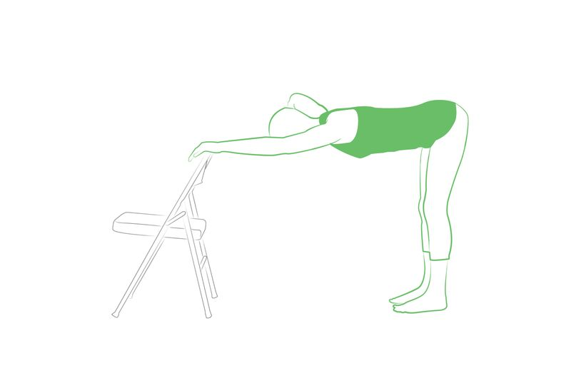 downward facing dog pose with chair