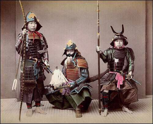 historical photo of japanese warriors