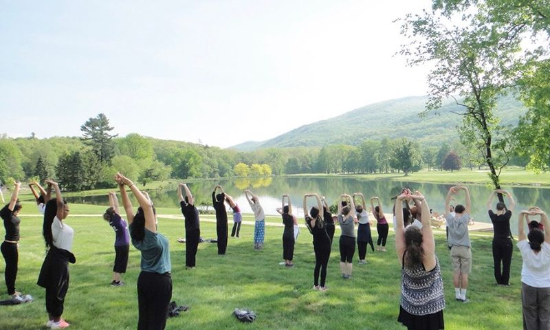 qigong in nature, by water