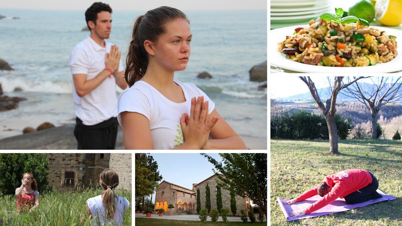 beach and monastery yoga retreat in rimini
