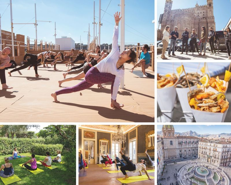 yoga and flavor in sicily