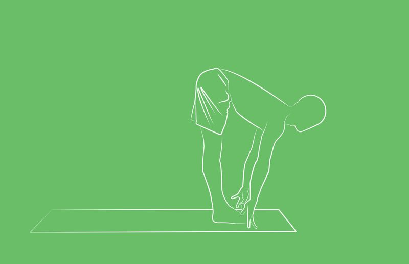 yoga poses for sleep standing forward fold