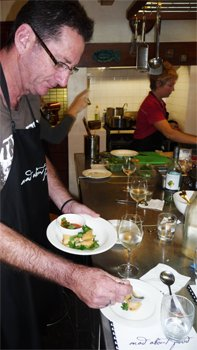 thai cooking at wildwood valley - barramundi spring rolls