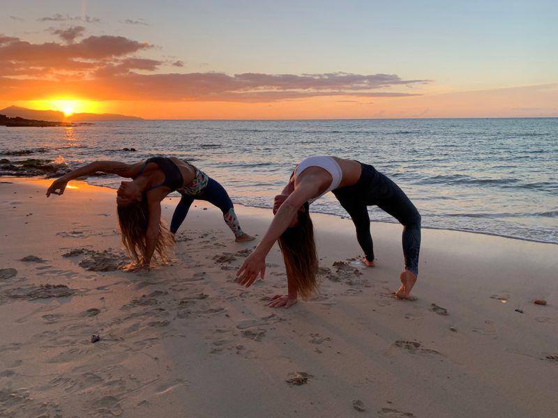 sunrise yoga in canary islands