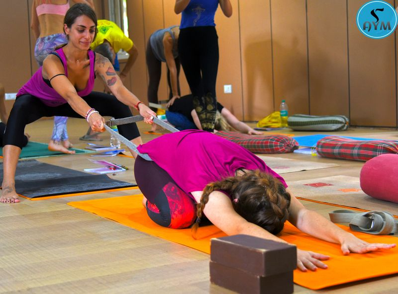 using straps in Iyengar Yoga
