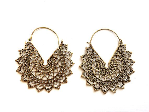 half moon mandala earrings