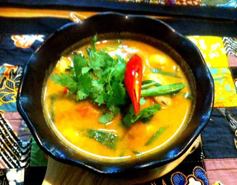A bowl of tom yum goong