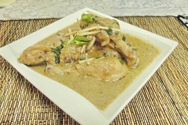 Mughlai white chicken curry