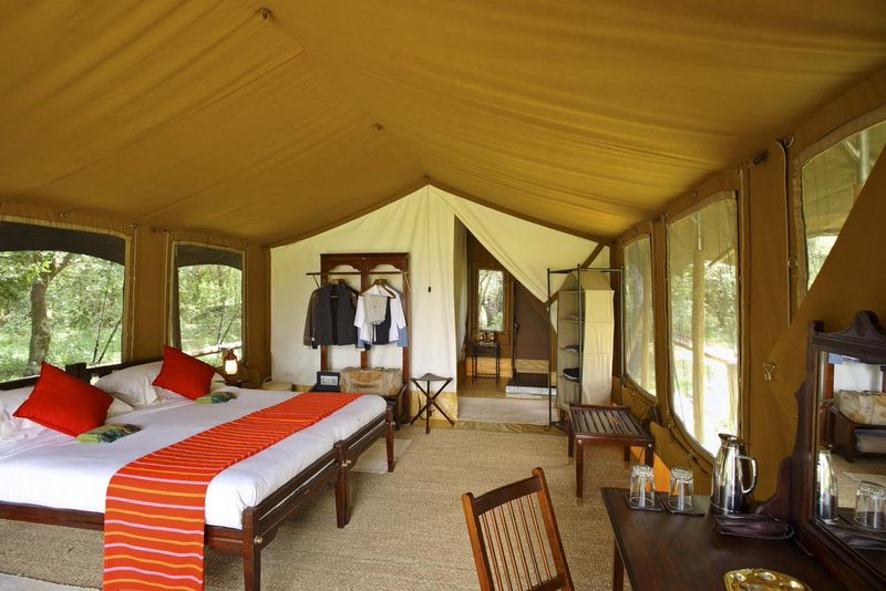 tented camp in africa