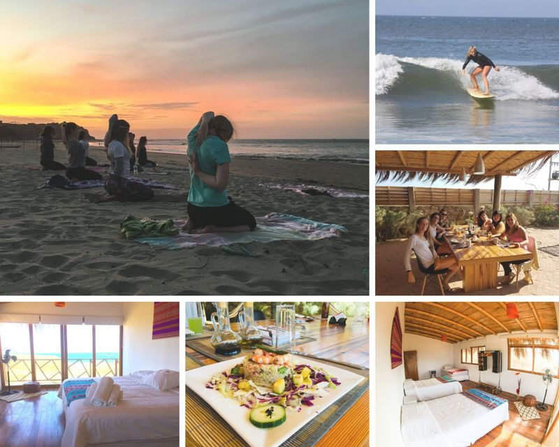 5 Day Relaxing Learn to Surf & Yoga Camp in Ñuro, Mancora Area