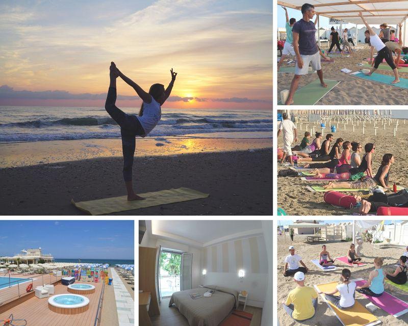 beach hotel yoga holiday in rimini , italy