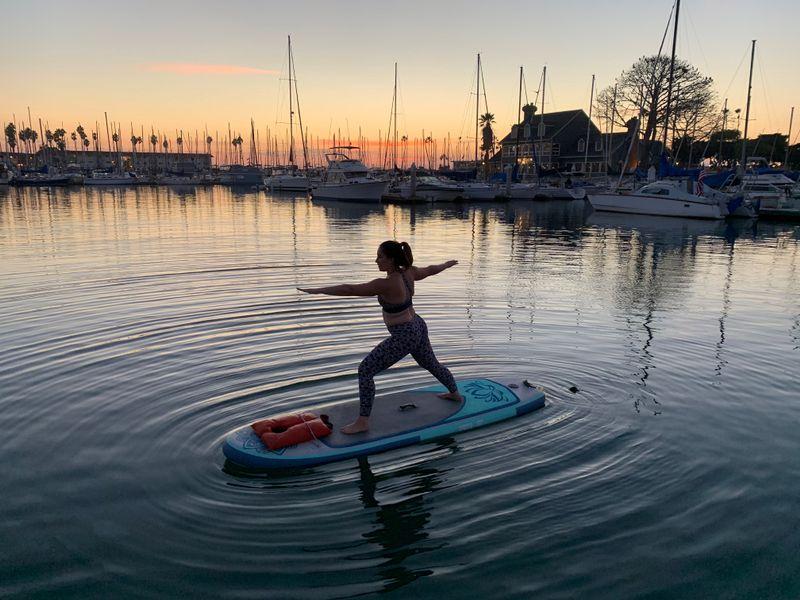 SUP yoga in california