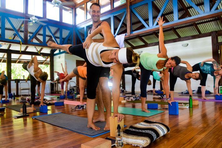 teaching an iyengar yoga class