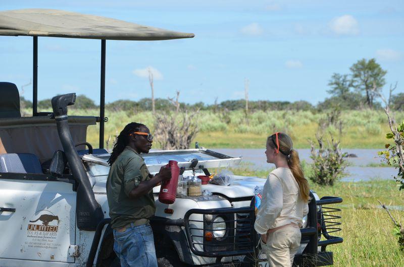on a private safari in africa