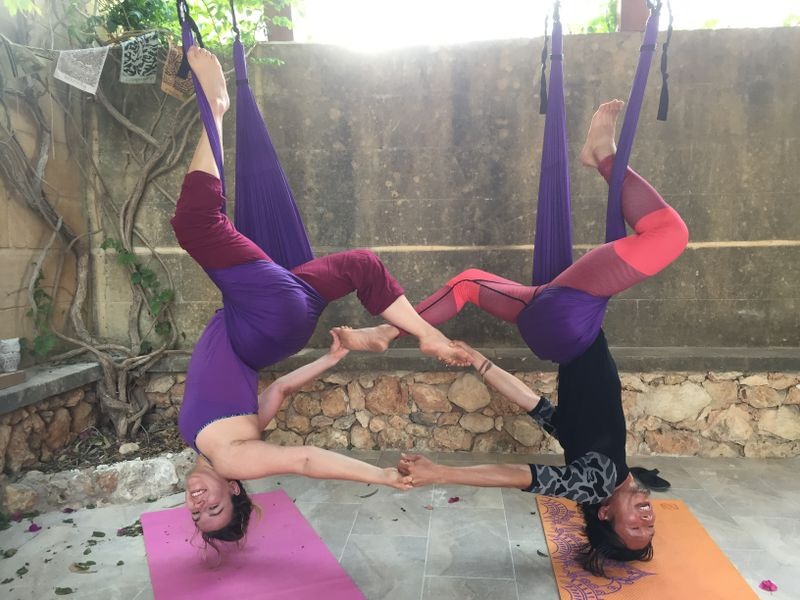 aerial yoga retreat playa del carmen
