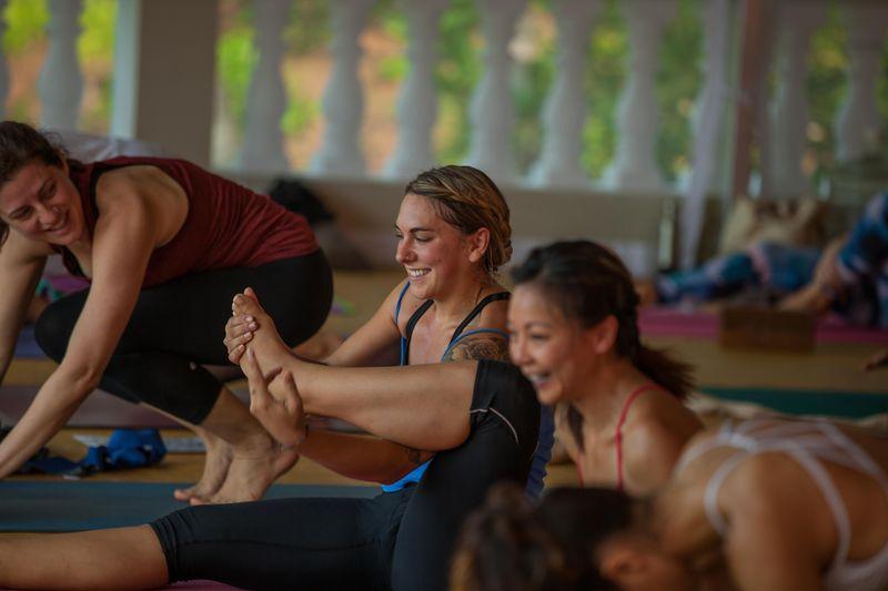 during yin yoga class