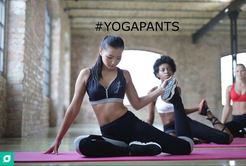 yoga pants hashtag