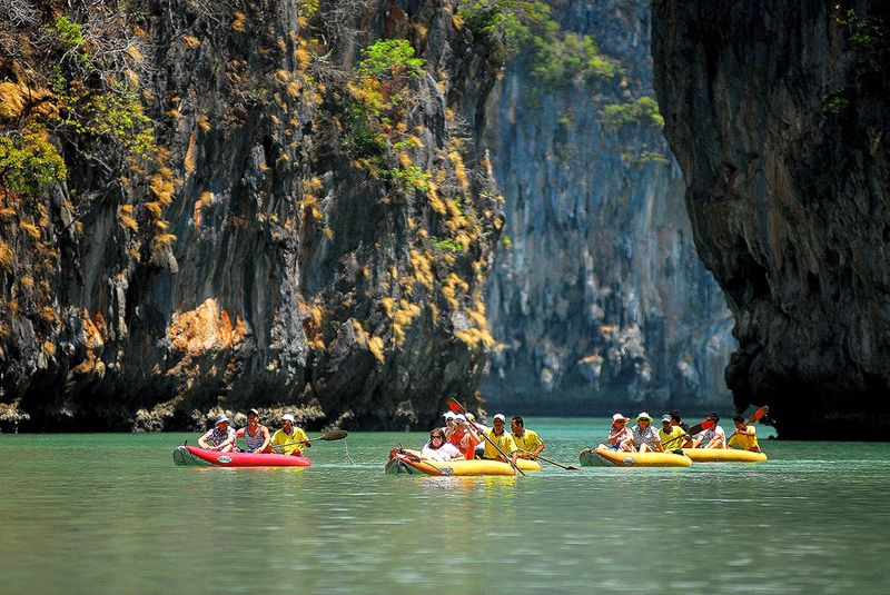 kayaking in phanga bay