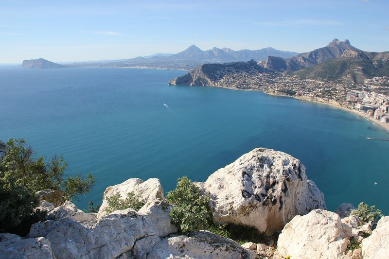 alicante view of the beach from high coast