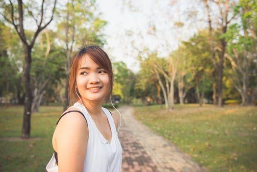 healthy & happy girl
