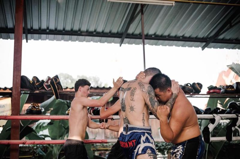 por silaphaigym muay thai training