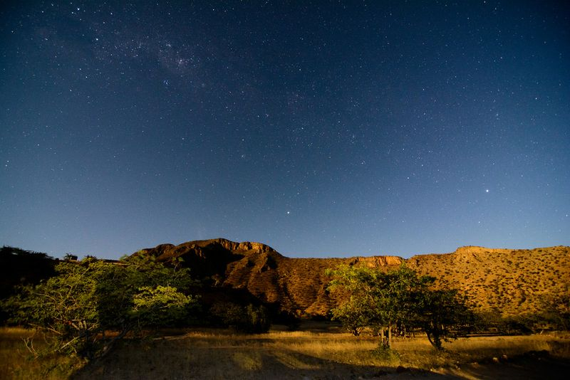 camping under the stars in namibia
