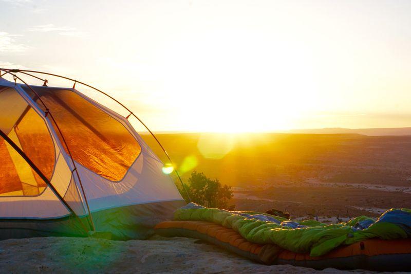 sleeping-bag-motorcycle-camping