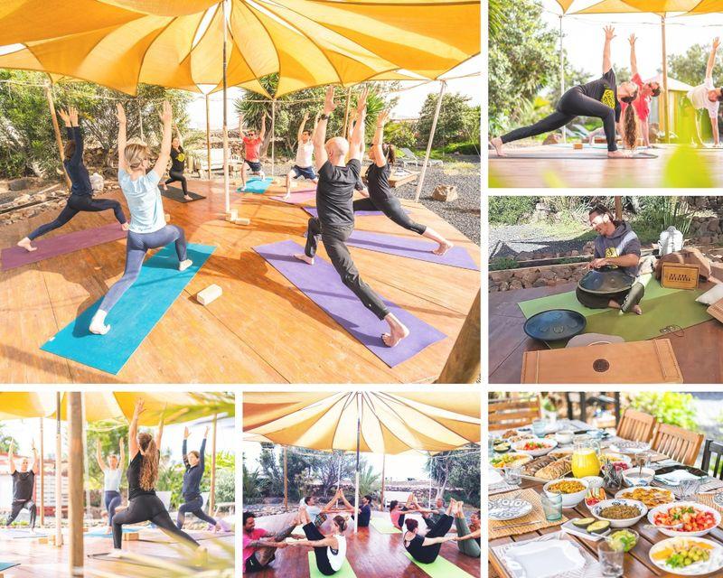 calming yoga retreat in fuerteventura, spain