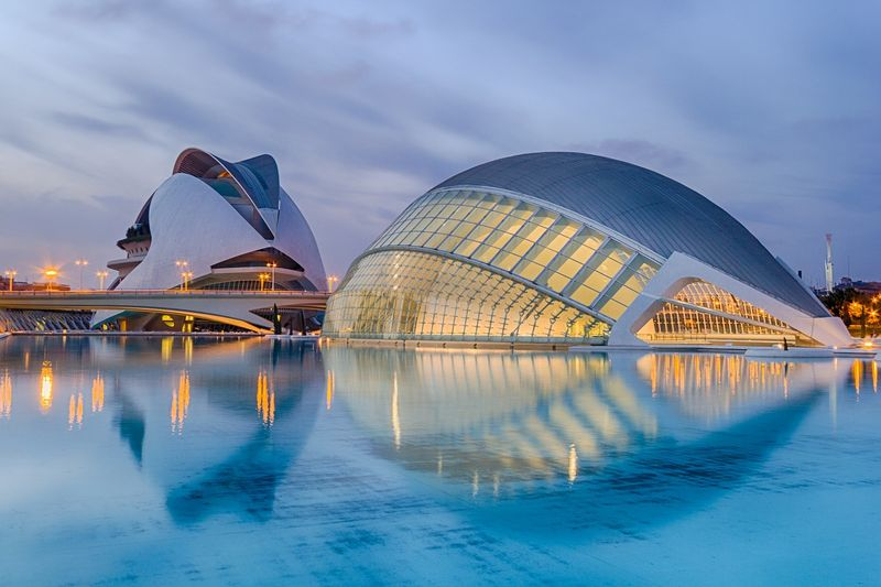 valencia view of city of arts and sciences