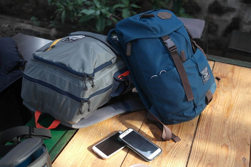 backpacks and smartphones