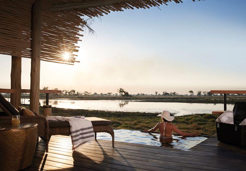 luxury accommodation in the okavango delta
