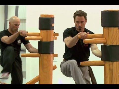 robert downey jr training in wing tsu