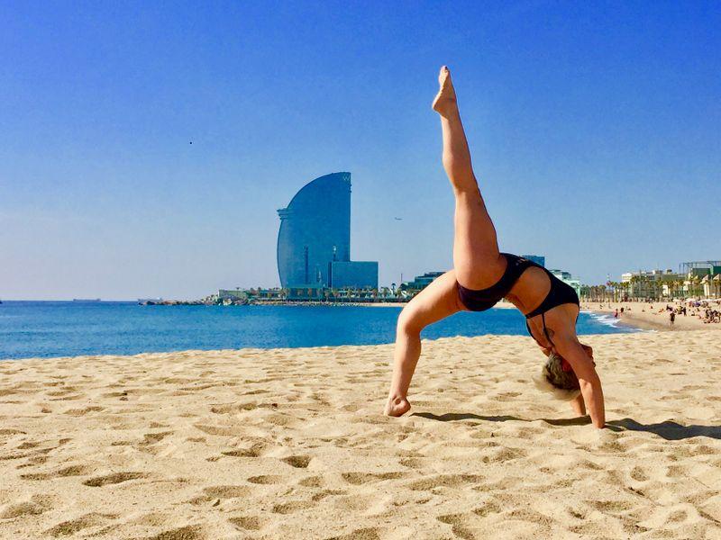 yoga on the beach barcelona