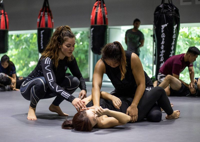 MMA training in session