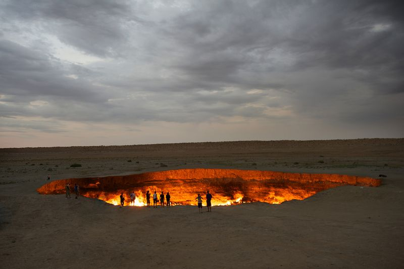 Darvaza Gas Crater - The gates of hell