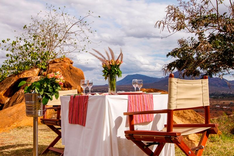 a meal with a view in africa