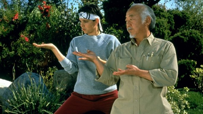 karate kid learning from his master