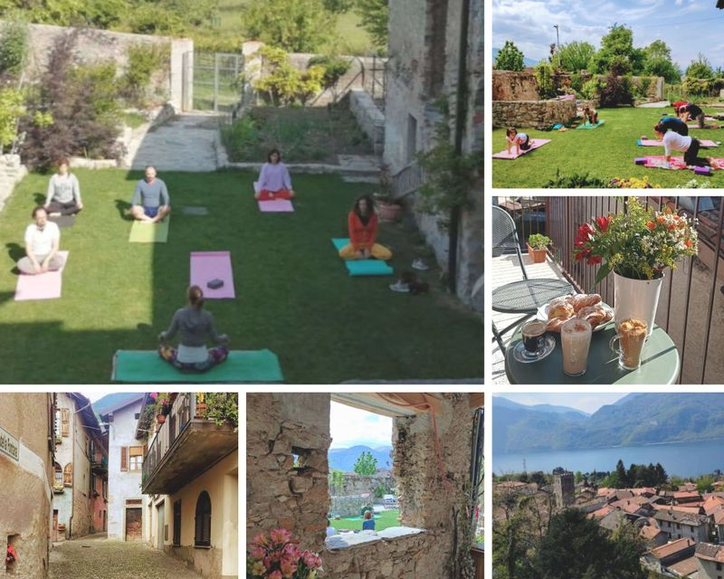4 Day Restorative Retreat with Yoga and Pranayama Sessions on the Como Lake, Lombardy