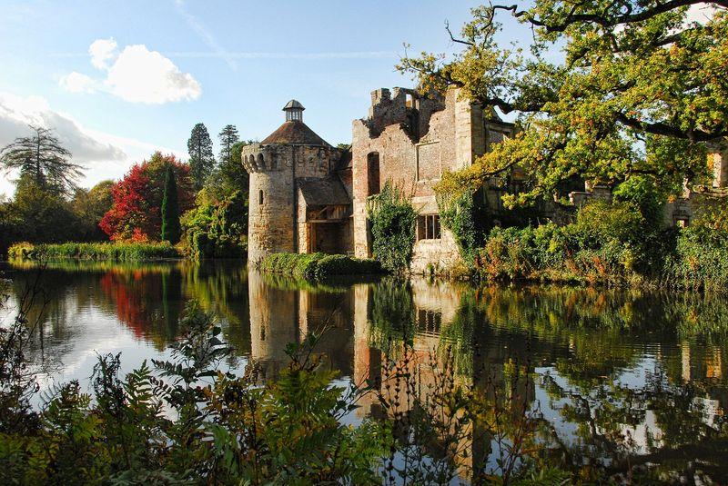 kent area castle in autumn