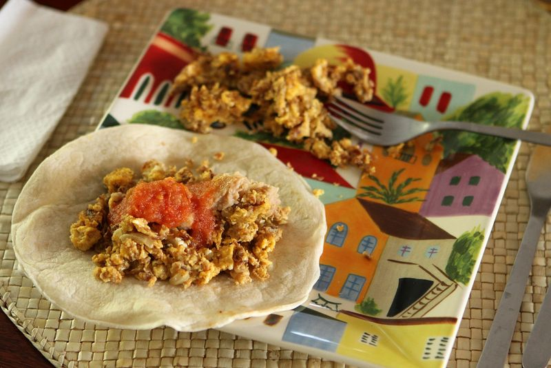 machaca with eggs