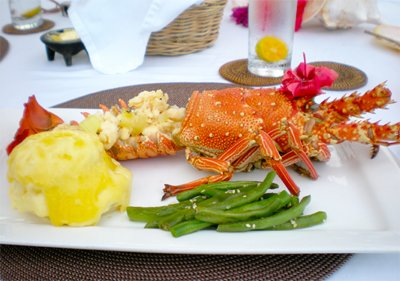 our family foodie trip at taveuni palms - lobster